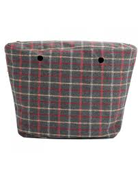 Funda interior O bag - Tartan Gris